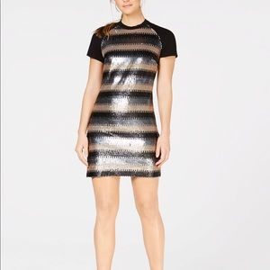 NWT Laundry by Shelli Segal Sequins Shift Dress